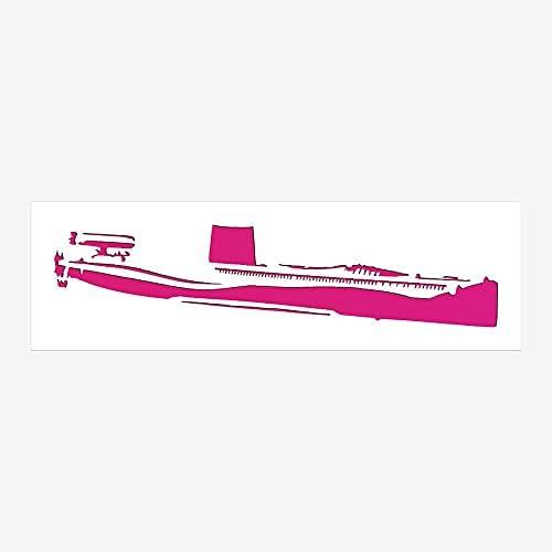 Navy Max 80% OFF Submarine Stencil Jacksonville Mall Reusable Sturdy 4 Transparent x Flexible