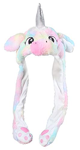 Shirt-Panda Einhorn Wackelohr Mütze Plüsch · Party Verkleidung Cosplay Unicorn Ohren lustige Einhornohren Kostüm Mädchen Hüte Fun Tiermütze Happy Ear · Einhorn (bunt)