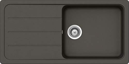 SCHOCK Küchenspüle 100 x 50 cm Formhaus D-100L Asphalt - CRISTALITE Granitspüle ab 60 cm Unterschrank-Breite