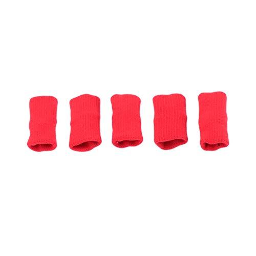 Healifty 5Pcs Fingerschutzhülse Arthritis Daumenstützhülse Sportfingergelenkschutz
