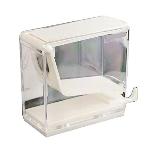 Kdjsic 1 Pieza Dental Dentista Rollo de algodón dispensador Soporte Almacenamiento Organizador Caja Tipo Prensa
