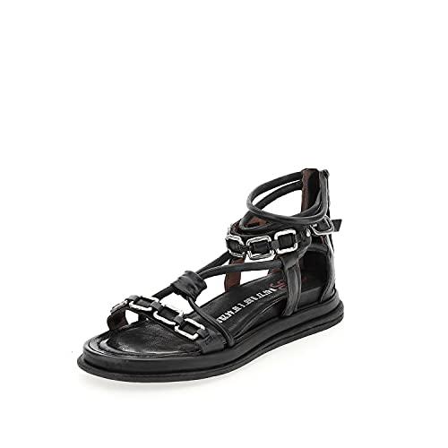 airstep / a.s.98 Pola Square Sandalen/Sandaletten Damen Schwarz - 39 - Sandalen/Sandaletten Shoes
