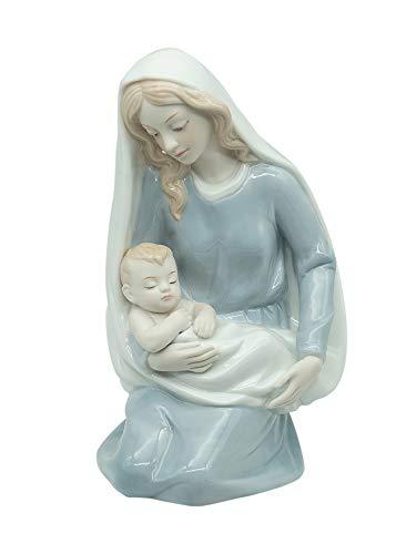 Zenghh Regalos religiosos Mary Madres Beso Baby Jesús Figurine Católico Católico Estatua Colección Memorial Escultura DIOS NAVIDAD NAVIDAD DÍA DÍA DEL DÍA MODILLO MUCHANDO VIVIENDO DORMITORIO CABRADOR