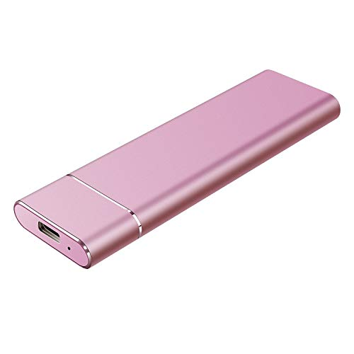 External Hard Drive 1TB Ultra Slim Portable Hard Drive External Compatible for Mac Laptop and PC-Pink