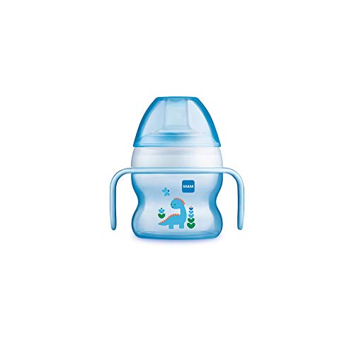 MAM Vaso Starter Cup D117 - Vaso de Aprendizaje con Boquilla y Asas Antideslizantes para Bebés a partir de 4 meses 150 ml - Azul