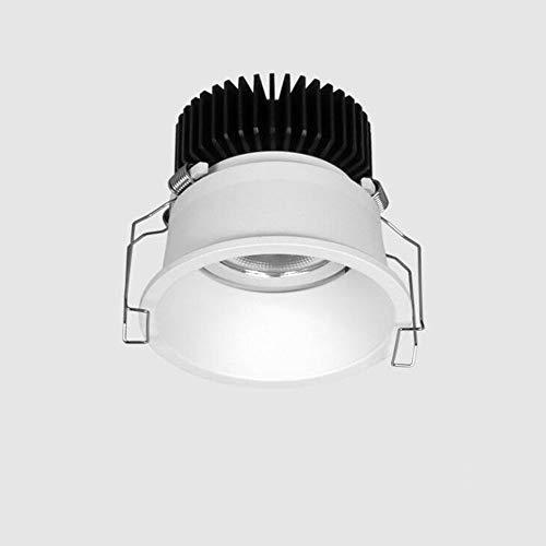 HSCW LED Flush Monte Hall de techo Iluminación Fijo profundo anti deslumbramiento Downlight Empotrado Techo Lámpara de techo CRI 95RA, ángulo de viga de 24 ° Sala de estar empotrable Salón de la sala