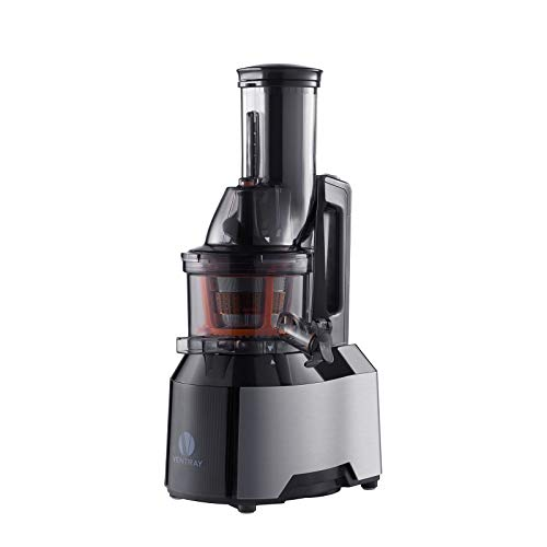 Ventray Slow Press Masticating Juicer,Easy to Clean,Reverse Function, BPA Free,Large Feed Chute,Juice Extractor,Brush,Recipe,Juice Jars,Black