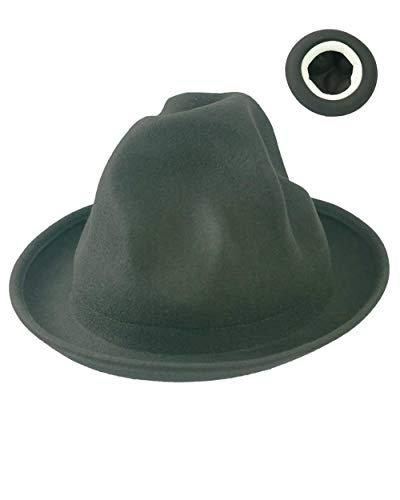 Übergroßer Berghut – Pharrell Williams Stil Wollfilz höchste Qualität ungerade geformte Herren Hut in Großbritannien Gr. One size, Schwarz