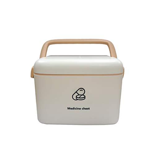 AIWEIYER Pudełko medyczne do przechowywania apteczek pierwszej pomocy – pudełko pierwszej pomocy dla rodziny przenośne pudełko na leki diagnostyczne pudełko do przechowywania dla dzieci wielowarstwowe pudełko na leki (białe)