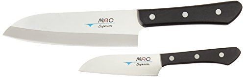 Mac Knife SK-201 Superior Santoku Knife, Set of 2, Silver