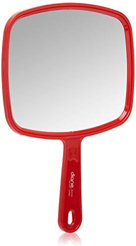 "Diane TV Mirror – Handheld Vanity Mirror with Hanging Hole in Handle – Medium Size (7"" x 10.5"") for Travel, Bathroom, Desk, Makeup, Beauty, Grooming, Shaving, D1210"
