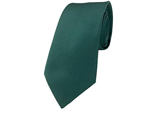BUNCHERY & SONS handgefertigte 7,0 cm Satin Krawatte dunkelgrün tannengrün grün grünekrawatte olive reingrün blattgrün