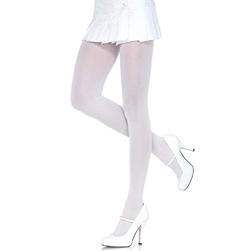 Leg Avenue Women's Plus Size Nylon Tights, White