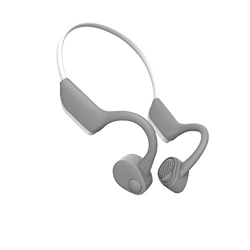 Open-Ear Wireless Bluetooth Headphones Bone Conduction Headphones HiFi Stereo with Mic for Running Driving Cycling Waterproof Open Ear Sports Headsets(White)