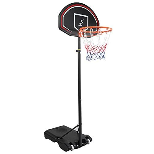 YOLEO Basketballkorb für Kinder, 1,6 bis 2,1 Meter höhenverstellbar Basketballständer Korbanlage beweglich Outdoor