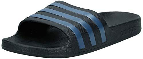 adidas Originals Unisex Adilette Badeschuhe Badelatschen Sandalen Schwarz Navy, Schuhgröße:42 EU, Farbe:Schwarz