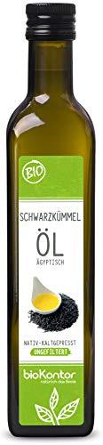 bioKontor // BIO Schwarzkümmelöl ägyptisch - UNGEFILTERT - nativ + kaltgepresst - 500 ml