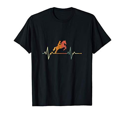 Vintage Jinete Del Caballo Regalo Latido Del Corazón Montar Camiseta
