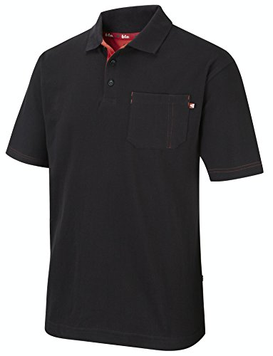 Lee Cooper LCTS011, Polo para Hombre, Negro, X-Large