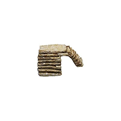 Komodo Basking Platform Corner Ramp Sandstone, Small by Komodo