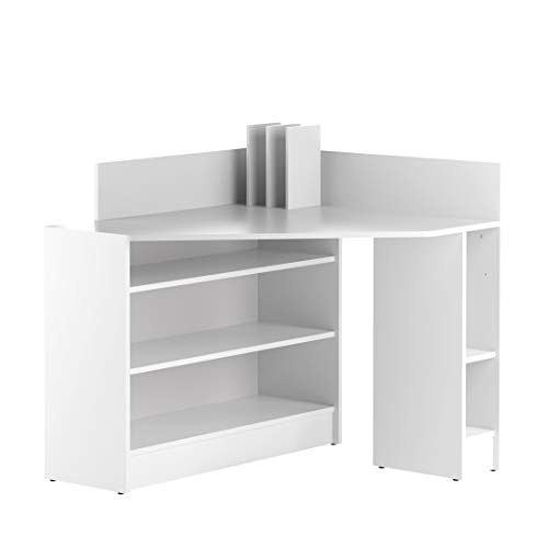 Marca Amazon - Movian Ulla - Escritorio esquinero, 94 x 94 x 98.6 cm (largo x ancho x alto), blanco