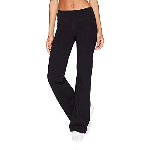 Auiyut Skinny Hose Damen Hohe Taillen-elastische Yogahose Beiläufige Normallack dünne Hüften lösen Yogahosen breite Bein Sport Hosen Sommer Schmales Elegant Hosen