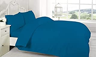 BYFT Orchard Bed Sheet and 2 pillow cases, Set of 3 (Twin Flat, Sky Blue)
