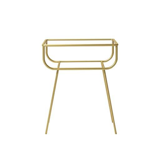 NISJO Verre Trempé End Table Salon Fer Art Canapé d'angle Table d'appoint Table de Chevet Chambre Table de Stockage