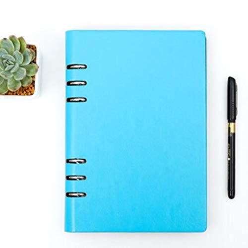 yangdan HF Faramon - Cuaderno de hojas sueltas desmontable, de hojas sueltas, bloc de notas gruesas, para oficina, reunión y papelería, A6, A5, B5, A4, color verde, tamaño: B5)