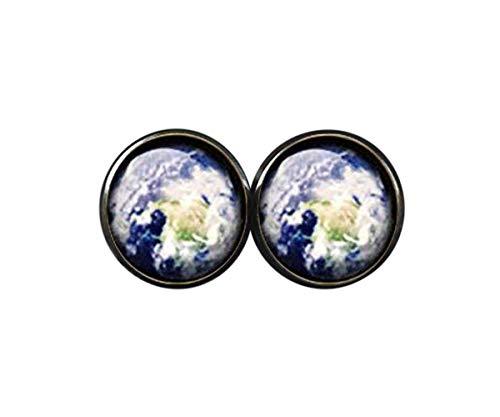 Pendientes de tierra con diseño de planeta para la tierra, pendientes de tierra para regalo de planeta tierra – Pendientes de planeta tierra para regalo de tierra – Pendientes de planeta