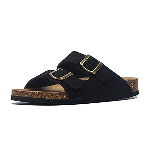 Zapatillas De Corcho Para Hombre Zapatillas De Gamuza Zapatillas De Playa De Dos Botones De Corcho Para Hombre Zapatos De Hombre (Color : Style7, Shoe Size : 43)