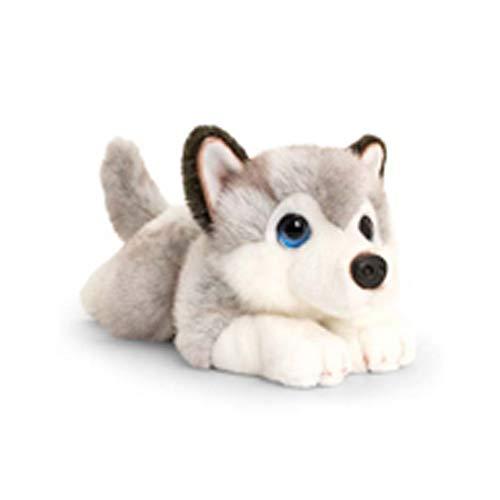 Keel Toys Cenefa para Cachorro (25 cm), Color Gris, Blanco,