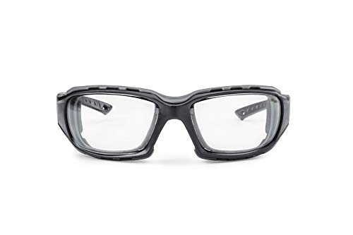 Solid. Shooting Glasses with Interchangeable Temples & Strap | Shooting eye Protection with Ballistic Impact Protection | Anti-Fog, Scratch-Resistant and UV-Protective Glasses | For Men & Women