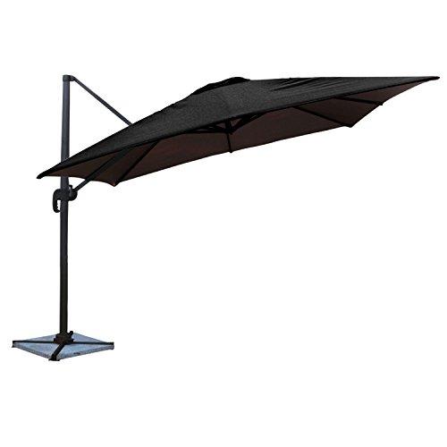 Happy Garden Parasol déporté Molokai carré 3x3m Noir