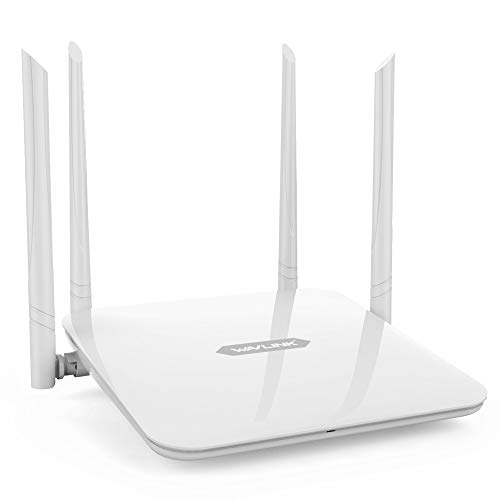 wi fi for homes Gigabit WiFi Router,WAVLINK Home Router 1200Mbps WiFi Router,High Power Wireless Wi-Fi Router,Dual Band 5Ghz+2.4Ghz with 2 x 2 MIMO 5dBi Antennas Internet Router