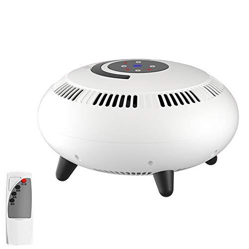 YGBH Calentador Vertical, en Forma de platillo Volante ° Calentador 360 Calentadores de Mano Soporte El Exceso de Calor y de vuelco Protección 2000W Conveniente para la Oficina al Aire Libre