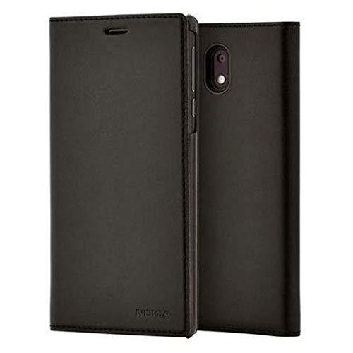 Original Nokia 1A21M1Q00VA Slim Flip Hülle CP-303 für Nokia 3 schwarz