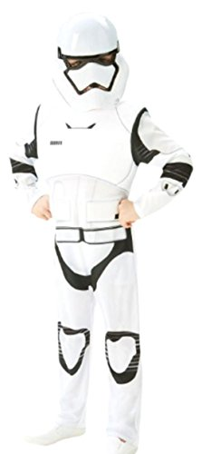 Confettery - Jungen Star Wars Stormtrooper Karneval Faschingskostüm, 152, Weiß