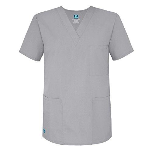 Adar Uniforms Womens 601SLVM Medical Scrubs Shirt, Grau (Silver Gray), Medium-US