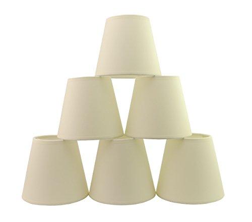 Doooitlight Set mit 6Clip-Lampenschirmen für Lampen, Leuchten, Kronleuchter cremefarben