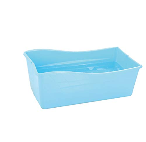 LYzpf Bathtub Bagno Bambini Grande Plastica Pieghevole Sicuro Vaschetta Portatile Camera Risparmiare Spazio Bagnetto Vasca per Kids di 0-15 Anni,Blue