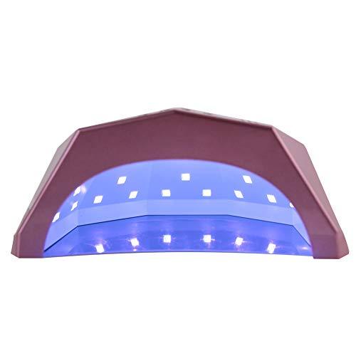 Lámpara LED UV inteligente Secador de uñas de 24 W / 48 W, ajustes de temporizador de 5 s, 30 s, 60 s, herramienta de manicura/pedicura para esmalte de uñas en gel [UE], secador de uñas, secador de