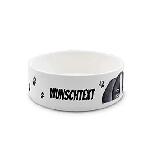 printplanet® - Futternapf mit Name oder Text Bedruckt - Für Hunde - Napf Hundenapf Wassernapf selbst gestalten - Motiv Tatzen-2