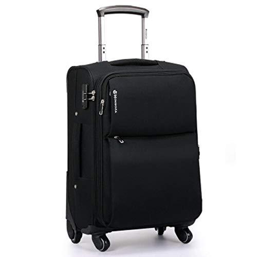 ZHIRUI Trolley CaseNew Rolling Luggage Bag with Chair,Men Travel Koffer with Wheel,Waterproof Nylon Trolley Case,Koffer can be sit 71,1 cm schwarz