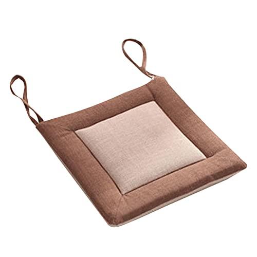 Yolispa Cojín de Asiento para Silla de Oficina con Lazos para Aliviar El Dolor de Espalda en Casa de Oficina