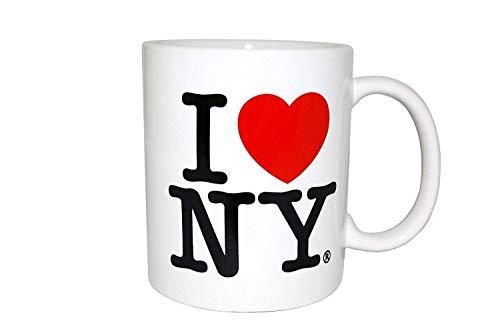 I Love New York - Tazas de doble cara I Love NY en colores amarillo, rosa, naranja, azul, morado, blanco y negro recuerdos (blanco)