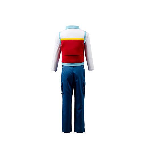 Cartton Disfraz de Capitn Rojo Chaleco Camisa Blanca y Pantalones Marinos, Altura 110-150 cm
