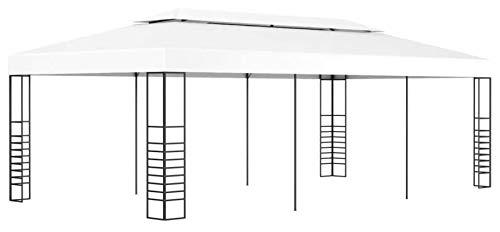ZHENG Gazebo Plegable Carpas Plegables Patio Canopy Marquee Party Tienda Tienda de Novia, 6x3 m Blanco