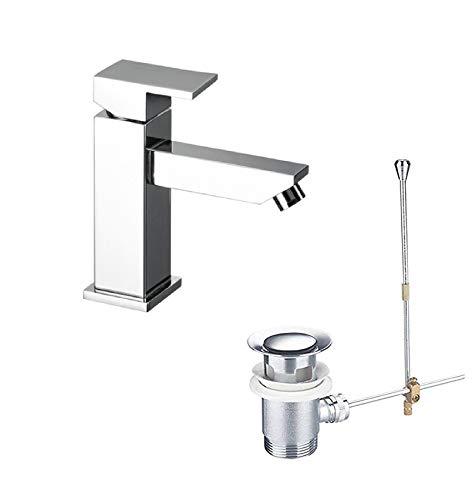 takestop® tweepsmengkraan voor badkamer, badkamer, wastafel met flexibele hendel, vierkant