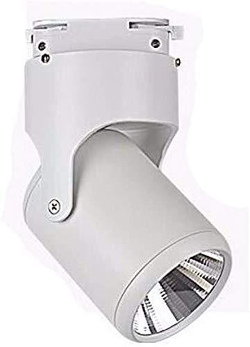 Lámpara de pared con foco de techo con iluminación de riel de 20W ajustable para centro comercial Tienda de ropa Oficina de exhibición, AC85-265V, con bombilla LED (Color: Luz blanca, Tamaño: Negro-20